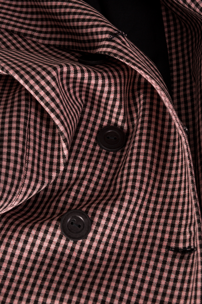 Checked double-breasted wool-blend blazer Bluzat image 4