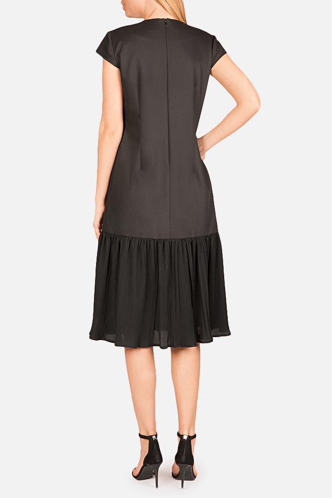 Pleated cotton-blend midi dress Bluzat image 2