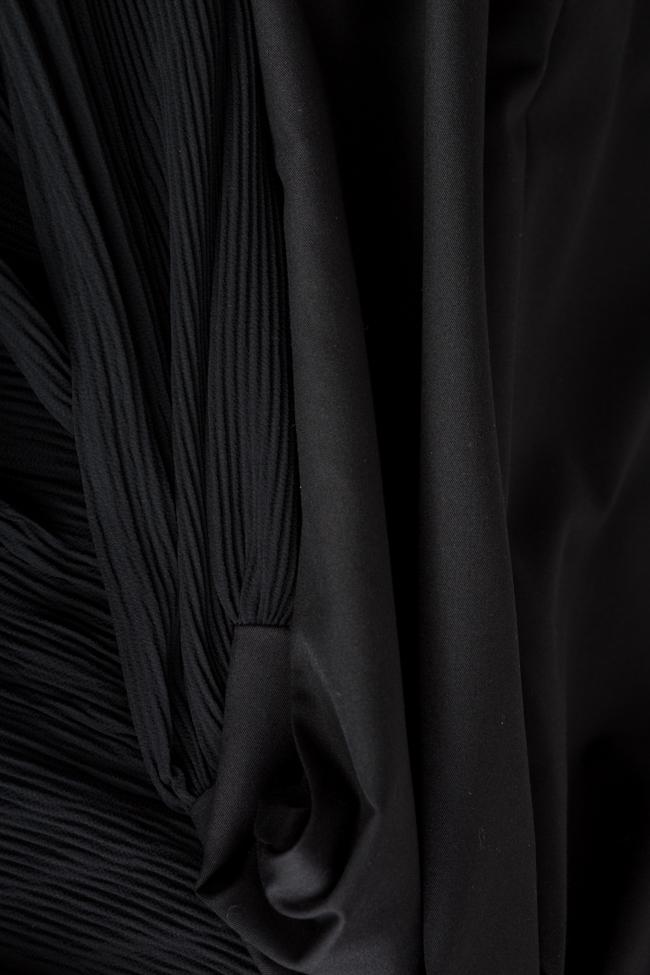 Pleated cotton-blend midi dress Bluzat image 4