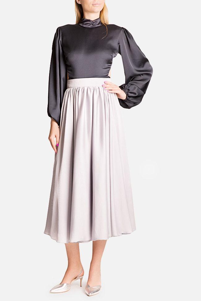 Silk-blend midi skirt Bluzat Cocktail image 1