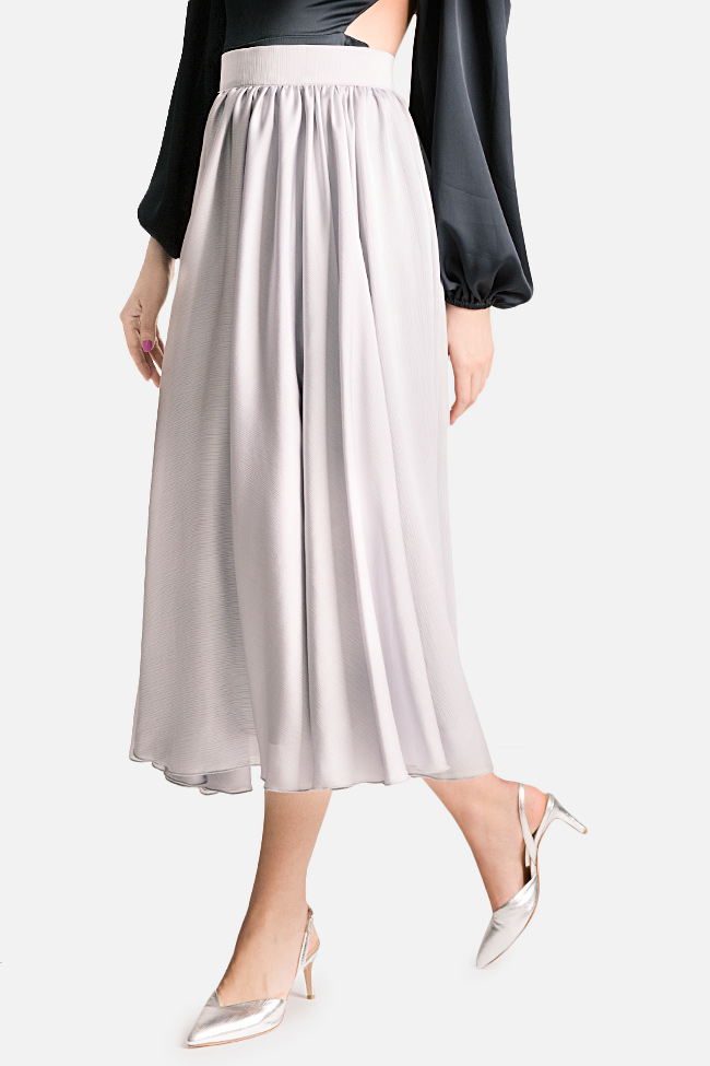 Silk-blend midi skirt Bluzat Cocktail image 0