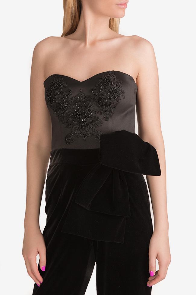 Embroidered velvet taffeta jumpsuit Ramona Belciu image 3