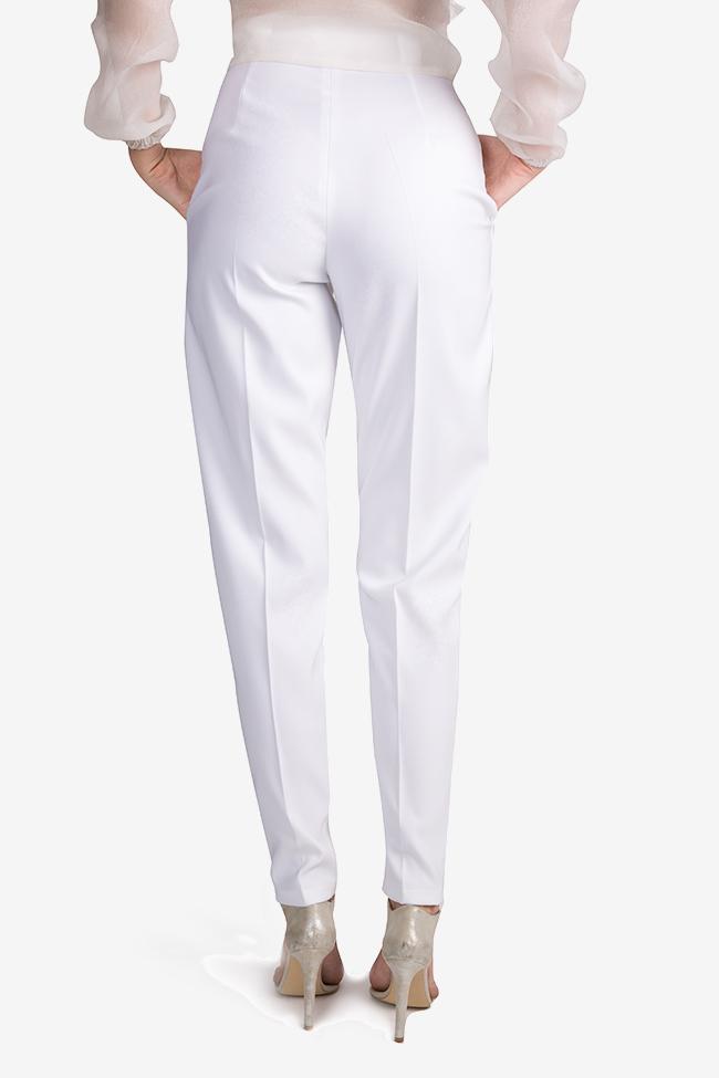 Pantaloni cu talie inalta din crep Jager Arllabel Golden Brand imagine 2