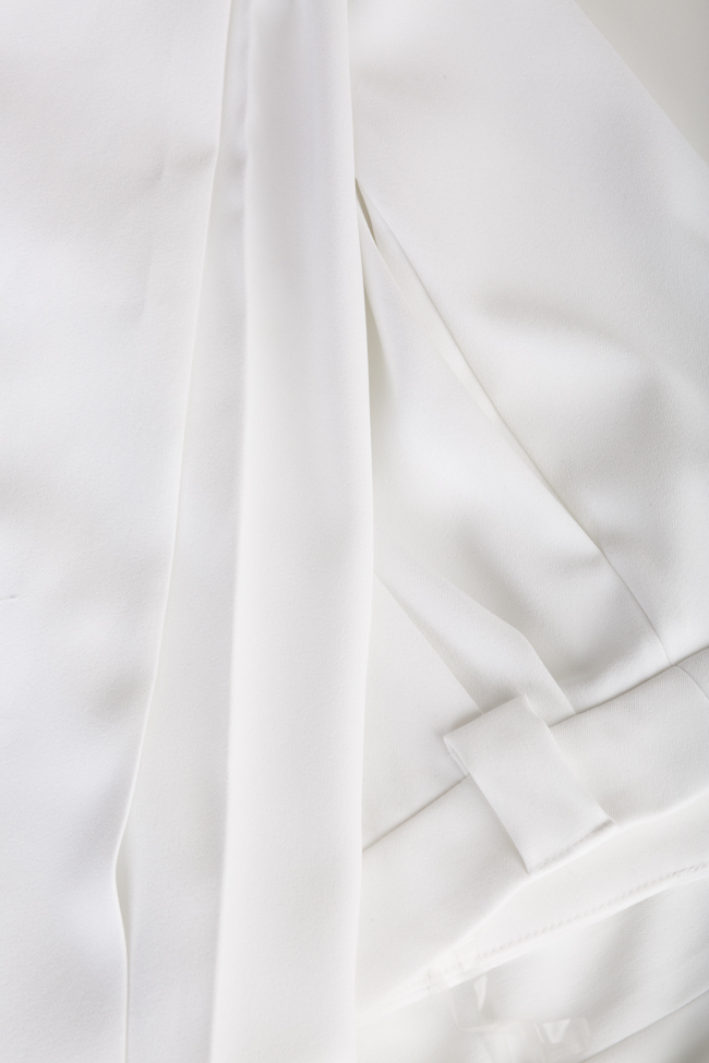 Pantaloni cu talie inalta din crep Jager Arllabel Golden Brand imagine 4