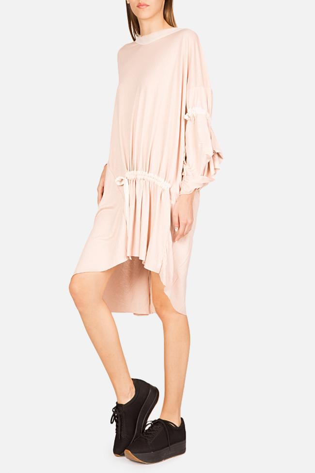 Frizzy asymmetric cotton-blend jersey mini dress Studio Cabal image 0