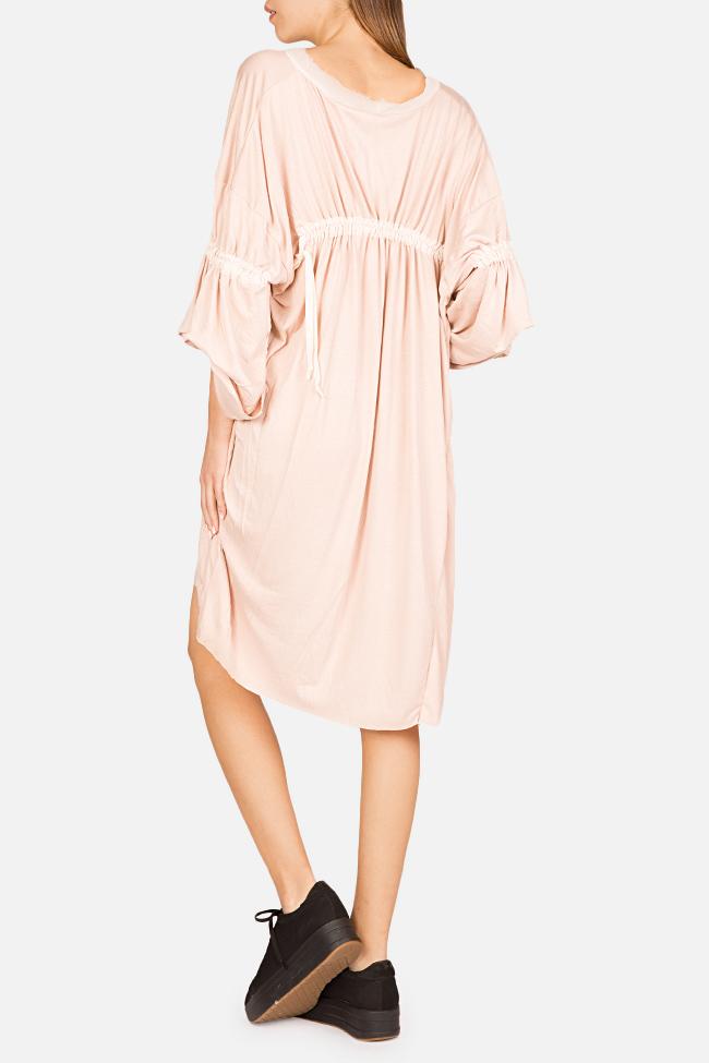Frizzy asymmetric cotton-blend jersey mini dress Studio Cabal image 1