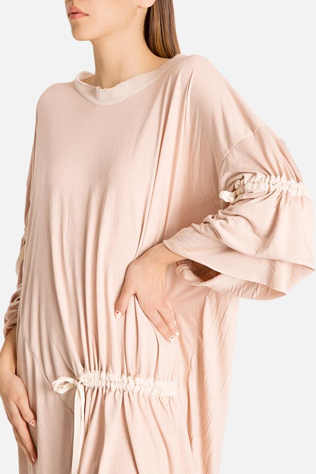 Frizzy asymmetric cotton-blend jersey mini dress Studio Cabal image 2