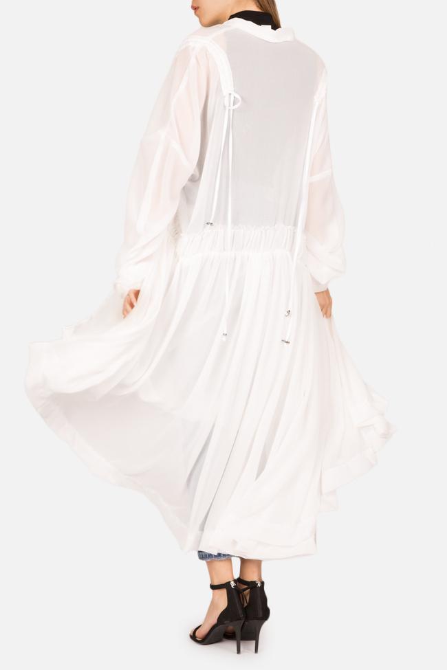 Robe asymétrique type chemise en jersey avec volants Marta Studio Cabal image 2