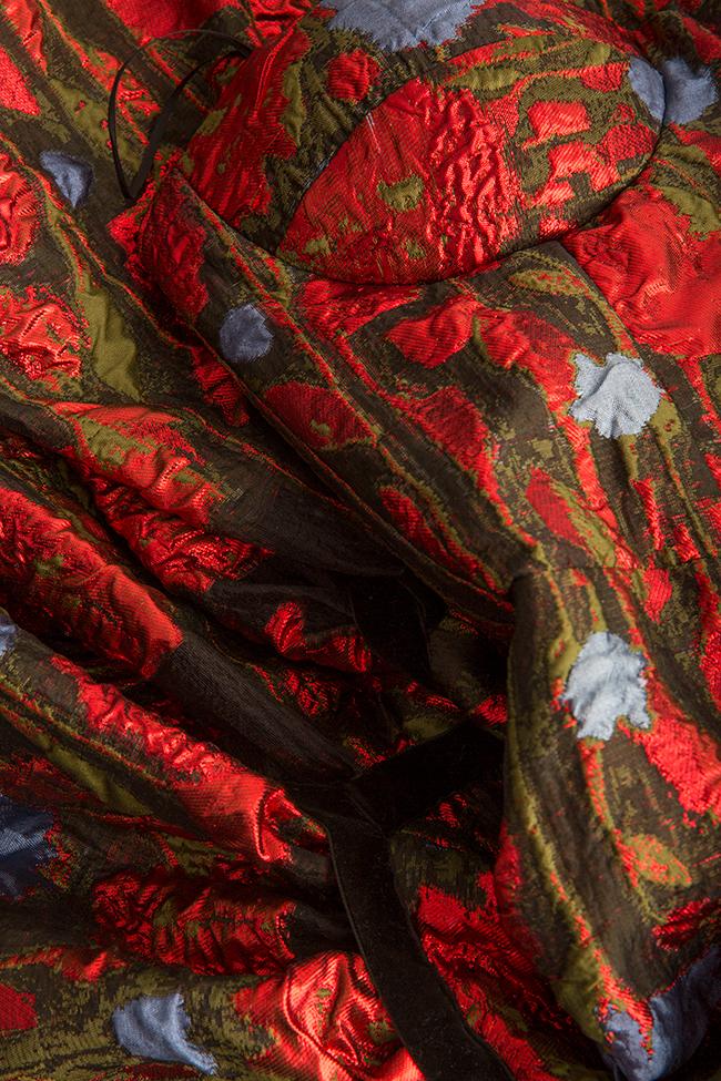 Rochie din organza cu broderie florala Alda Ciceu imagine 5