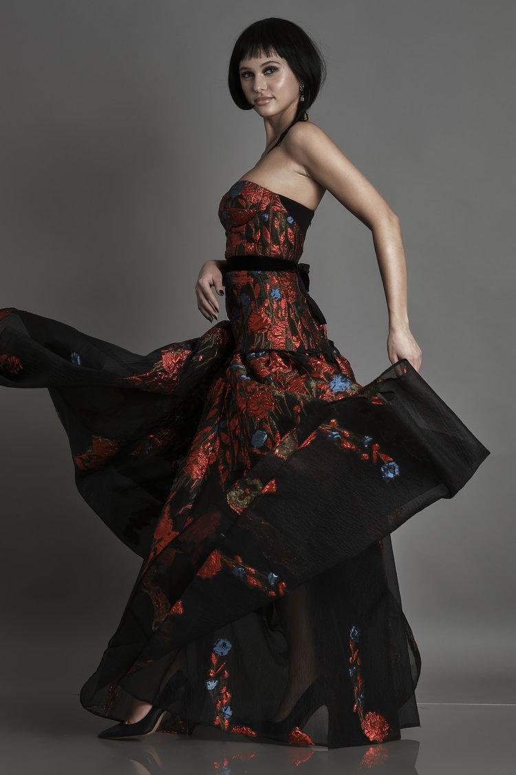 Floral-organza gown Alda Ciceu image 4