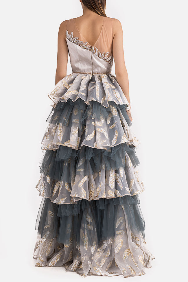 Embroidered ruffled tulle organza gown Alda Ciceu image 2