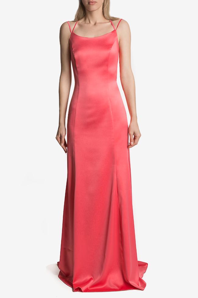 Open-back satin maxi dress Mirela Diaconu  image 0