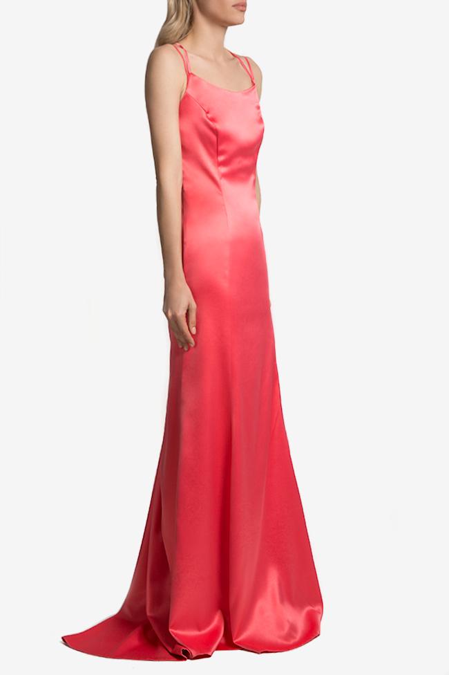 Open-back satin maxi dress Mirela Diaconu  image 1