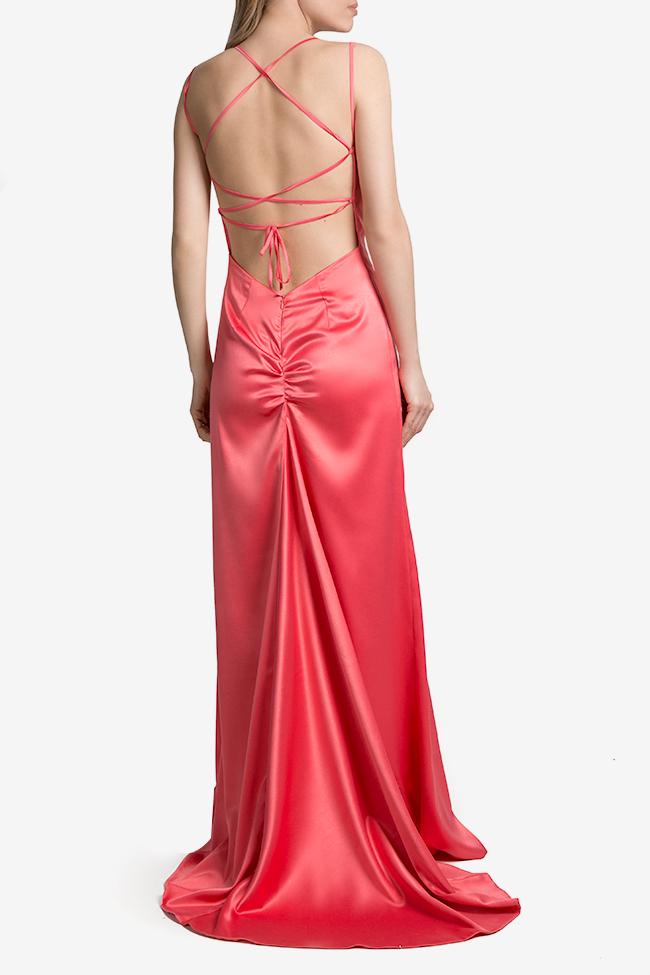 Open-back satin maxi dress Mirela Diaconu  image 2