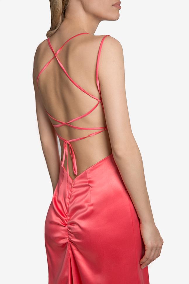 Open-back satin maxi dress Mirela Diaconu  image 3