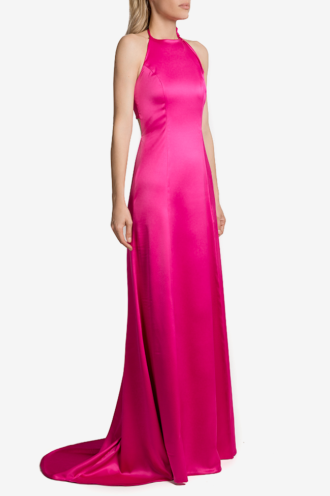Open-back satin gown Mirela Diaconu  image 1