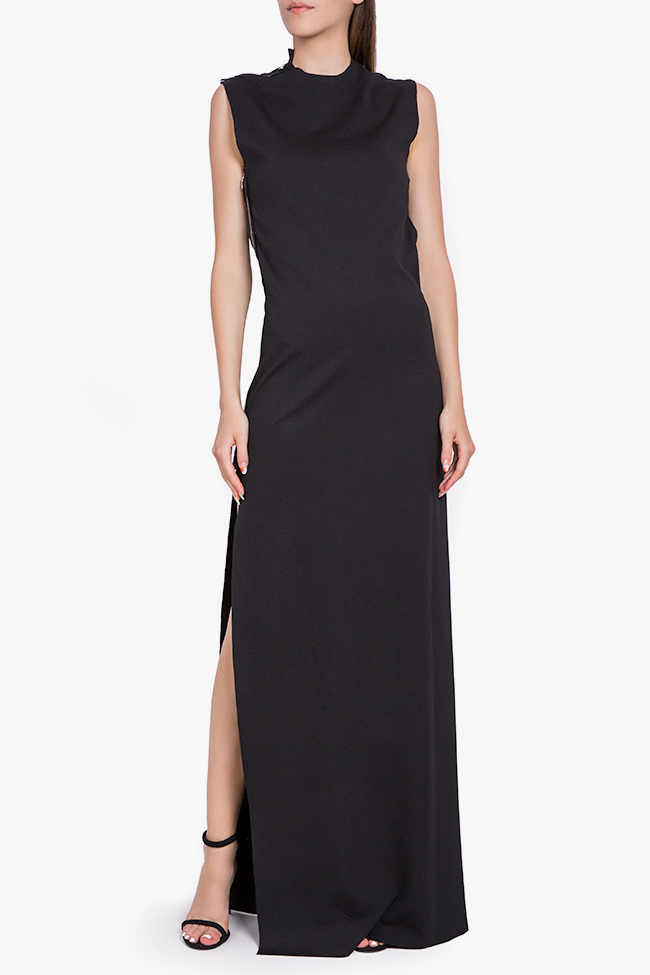 Open-back stretch-jersey maxi dress Marius Musat image 0