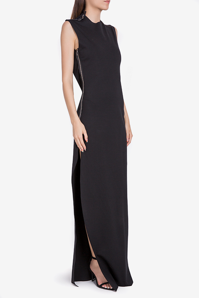 Open-back stretch-jersey maxi dress Marius Musat image 1