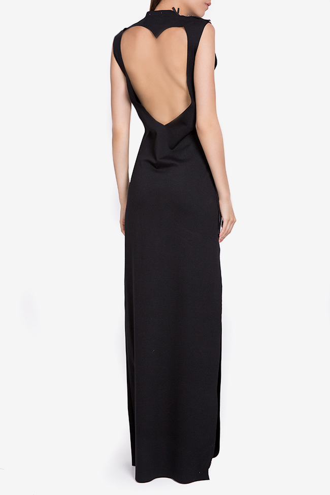 Open-back stretch-jersey maxi dress Marius Musat image 2