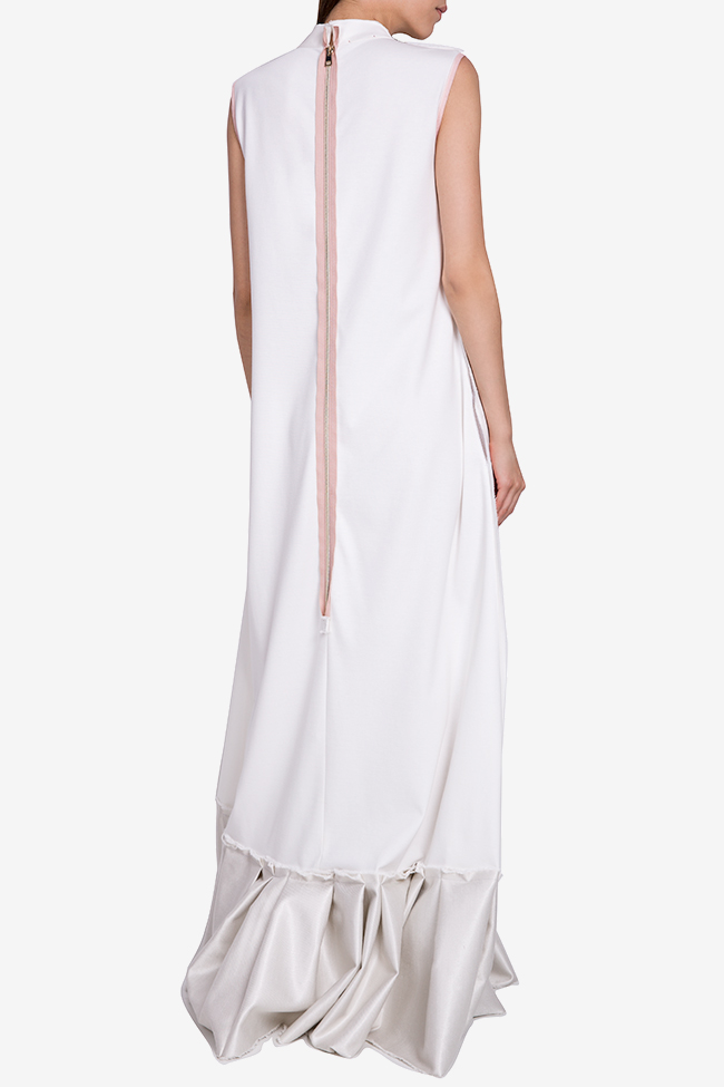 Embroidered ruffled jersey maxi dress Marius Musat image 2