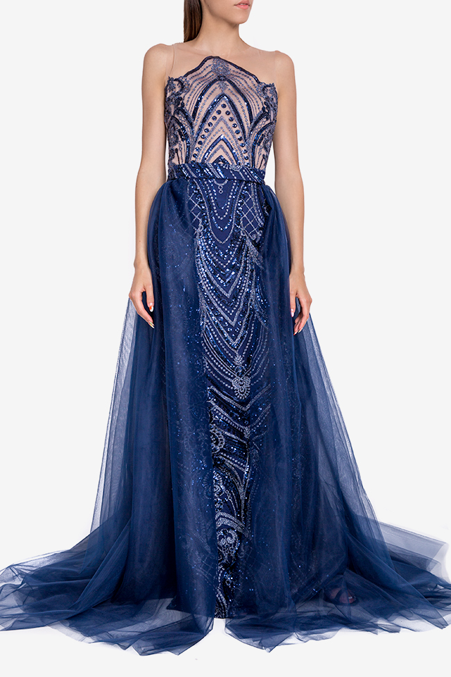 Timeea embellished tulle gown Mariana Ciceu image 1