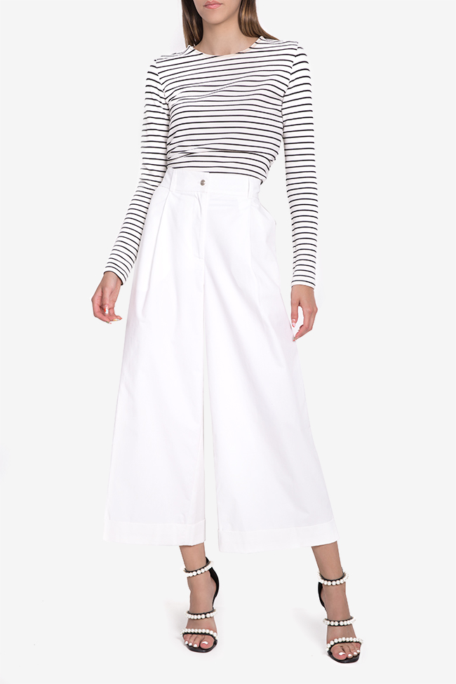 Cropped cotton wide-leg pants Acob a Porter image 1