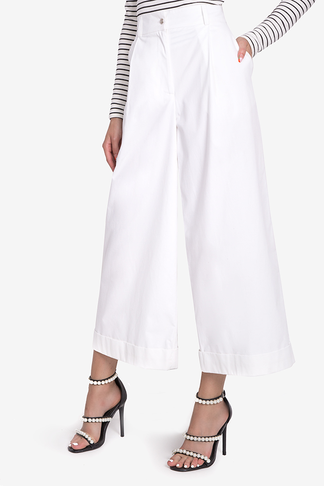 Cropped cotton wide-leg pants Acob a Porter image 0