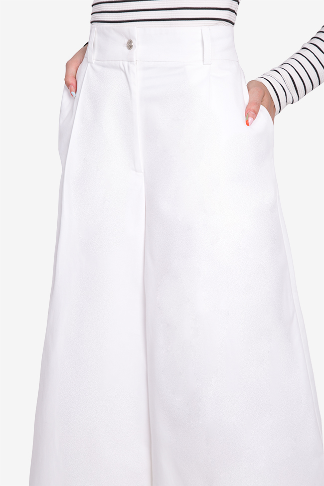 Cropped cotton wide-leg pants Acob a Porter image 3