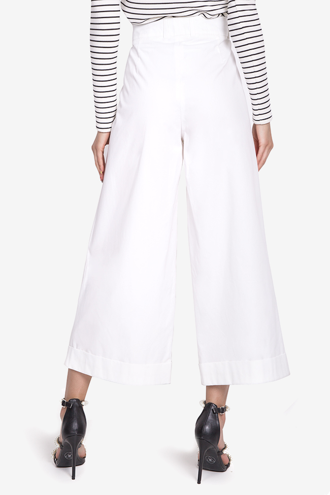 Cropped cotton wide-leg pants Acob a Porter image 2