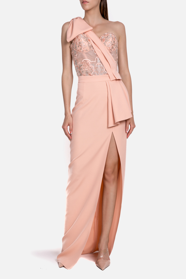 Ofelia embroidered tulle crepe deux-pieces Mariana Ciceu image 0