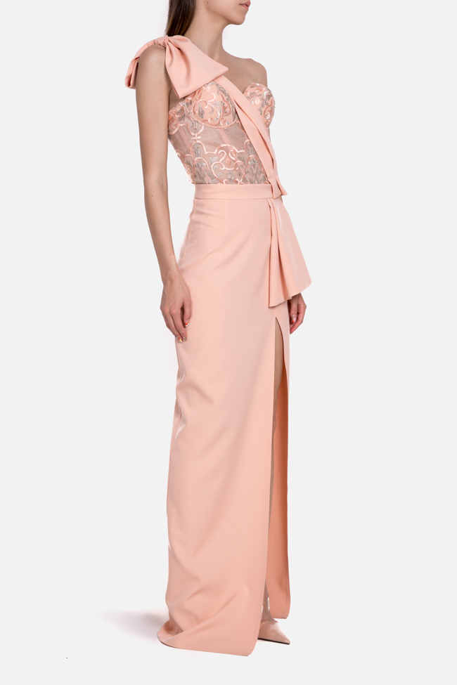 Ofelia embroidered tulle crepe deux-pieces Mariana Ciceu image 1