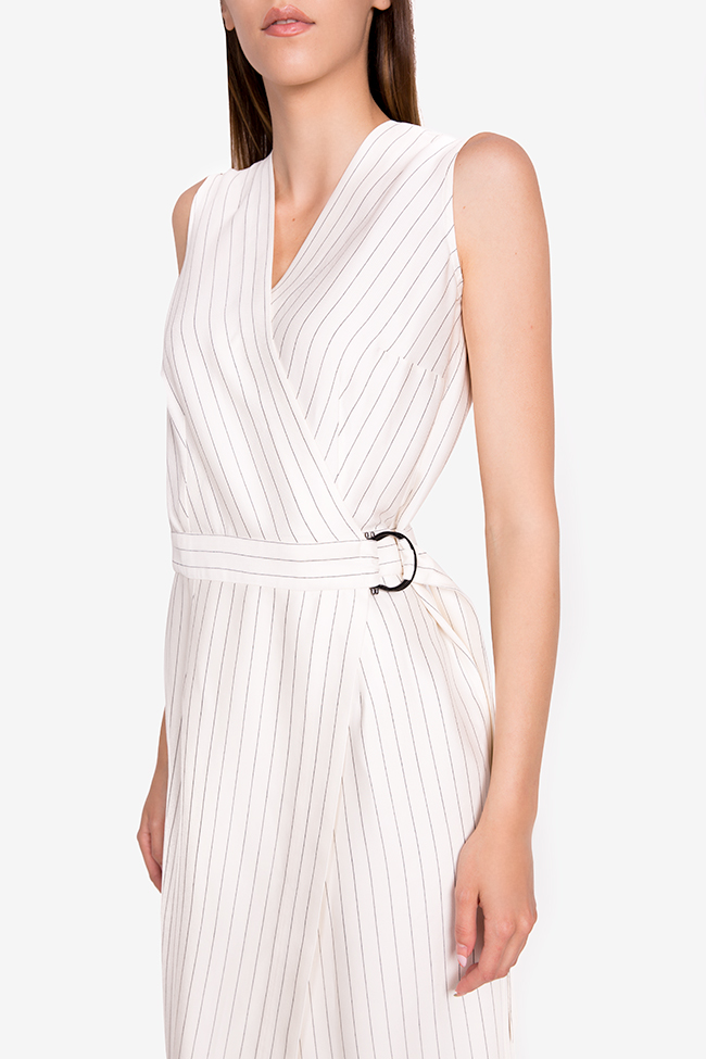 Layla striped cotton wrap midi dress Couture de Marie image 3