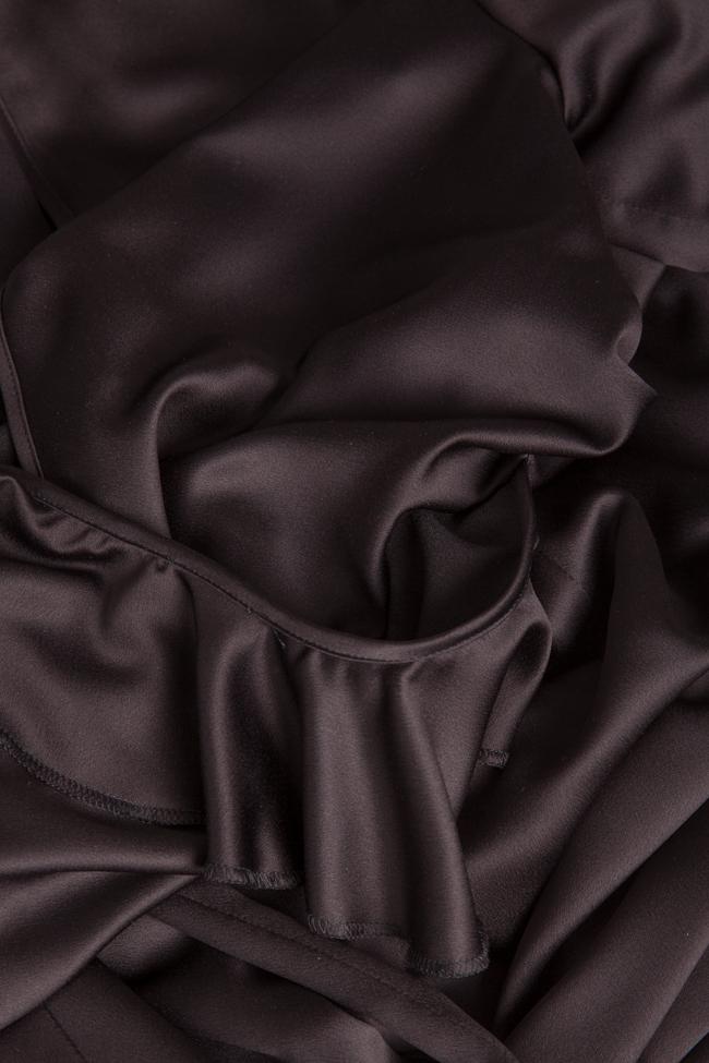 Jade wrap-effect ruffled silk-satin jumpsuit Couture de Marie image 4