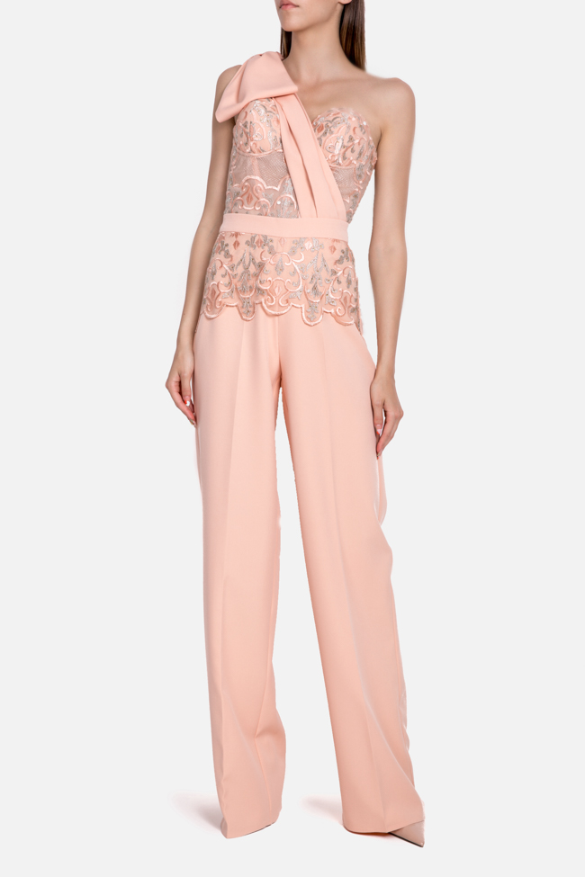 Atena embroidered tulle crepe deux-pieces Mariana Ciceu image 0