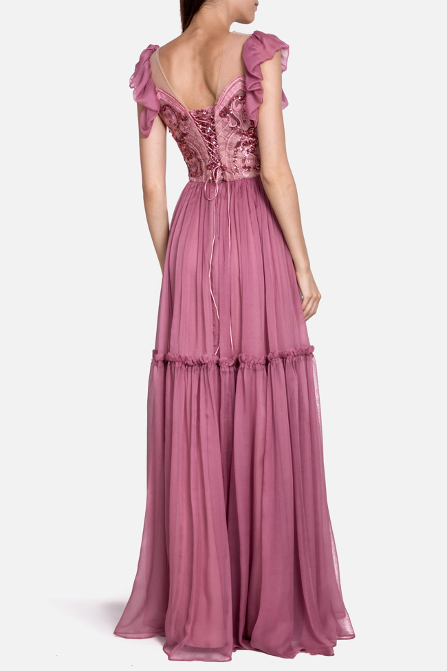 Othea embellished ruffle-trimmed silk dress Mariana Ciceu image 2