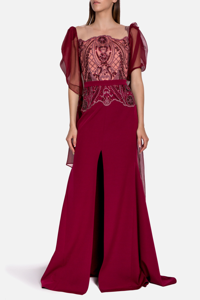 Hera embroidered tulle silk gown Mariana Ciceu image 1