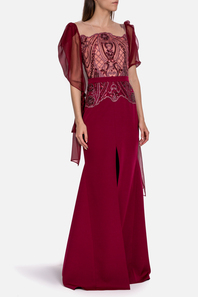Hera embroidered tulle silk gown Mariana Ciceu image 0