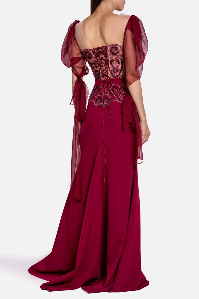 Hera embroidered tulle silk gown Mariana Ciceu image 2