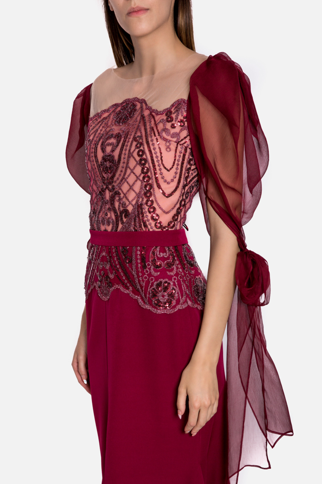 Hera embroidered tulle silk gown Mariana Ciceu image 3