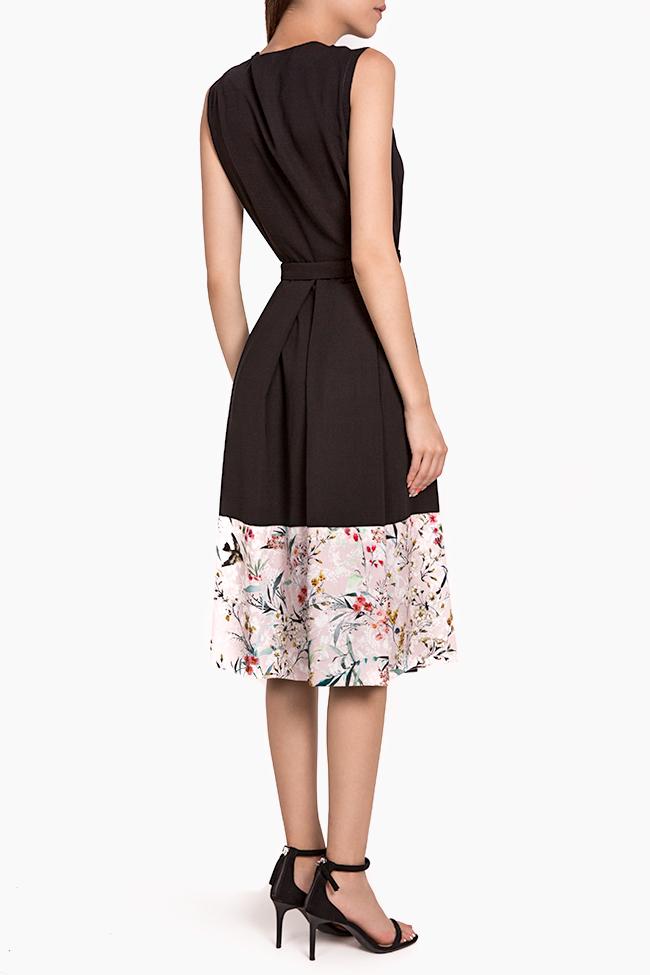 Floral-print silk-blend wrap midi dress Oana Manolescu image 2