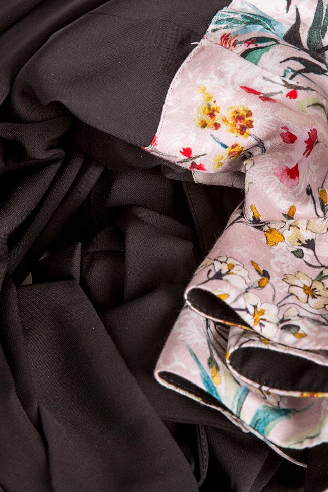 Floral-print silk-blend wrap midi dress Oana Manolescu image 4
