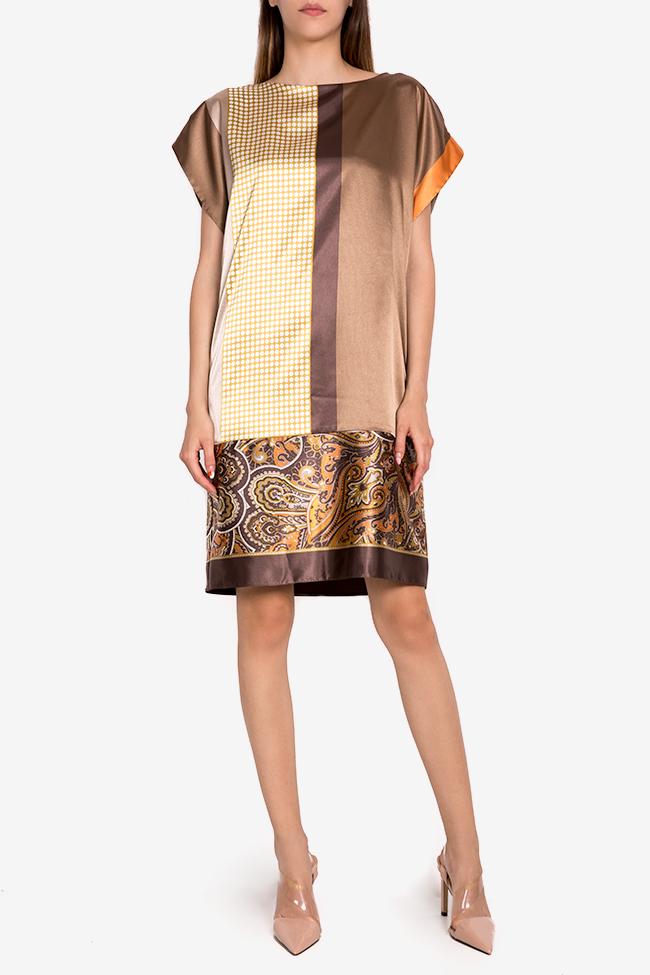 Printed satin midi dress Oana Manolescu image 0