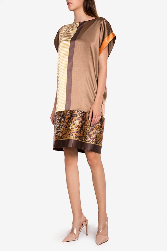 Printed satin midi dress Oana Manolescu image 1