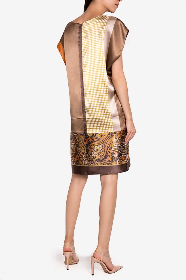 Printed satin midi dress Oana Manolescu image 2