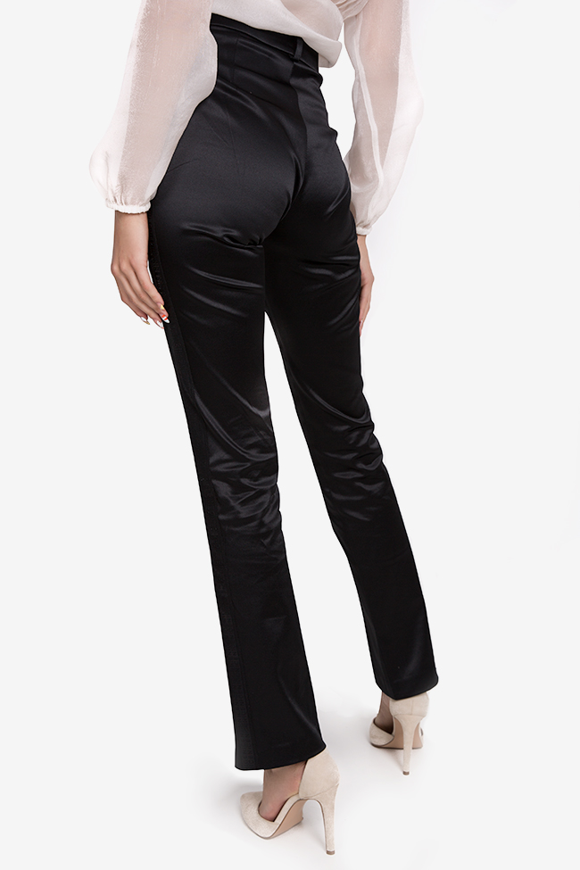 Yonce silk-blend straight-leg pants Arllabel Golden Brand image 2