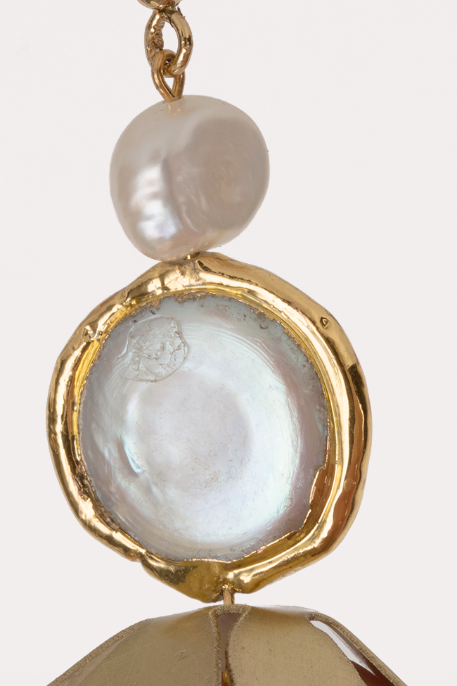 Gold-plated pearl flower Bon Bijou image 1