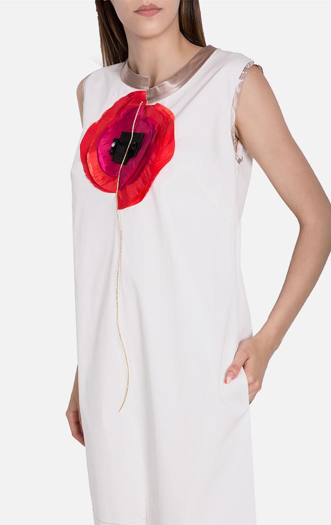 Embellished asymmetric cotton mini dress Marius Musat image 3