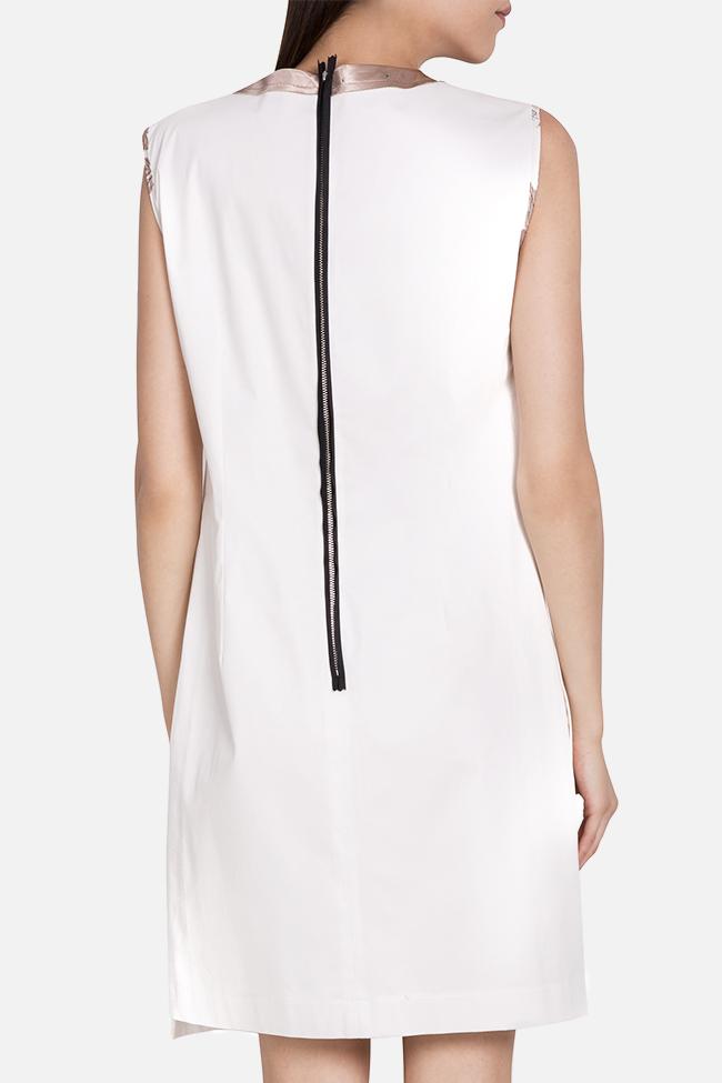 Embellished asymmetric cotton mini dress Marius Musat image 2