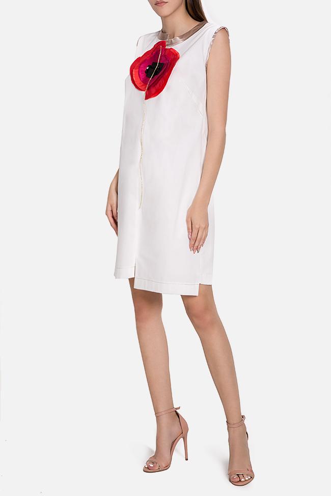 Embellished asymmetric cotton mini dress Marius Musat image 1