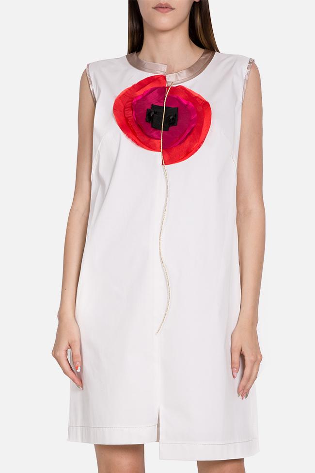 Embellished asymmetric cotton mini dress Marius Musat image 0